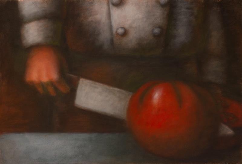 Chef, Knife, Tomato