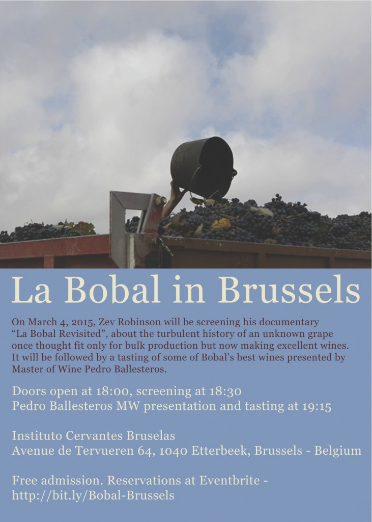 Invitation La Bobal in Brussels