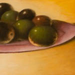 Seven Olives on a Plate