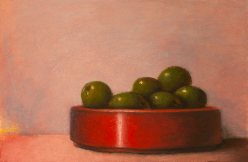 Six Olives and Red Bowl
