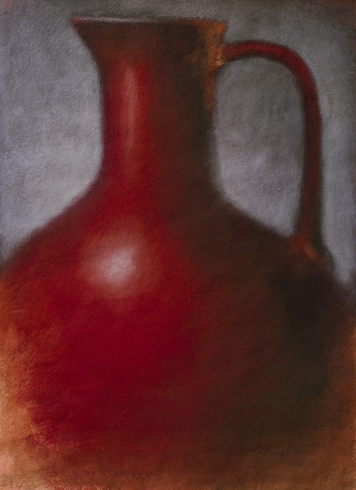 Red Amphora on Gray