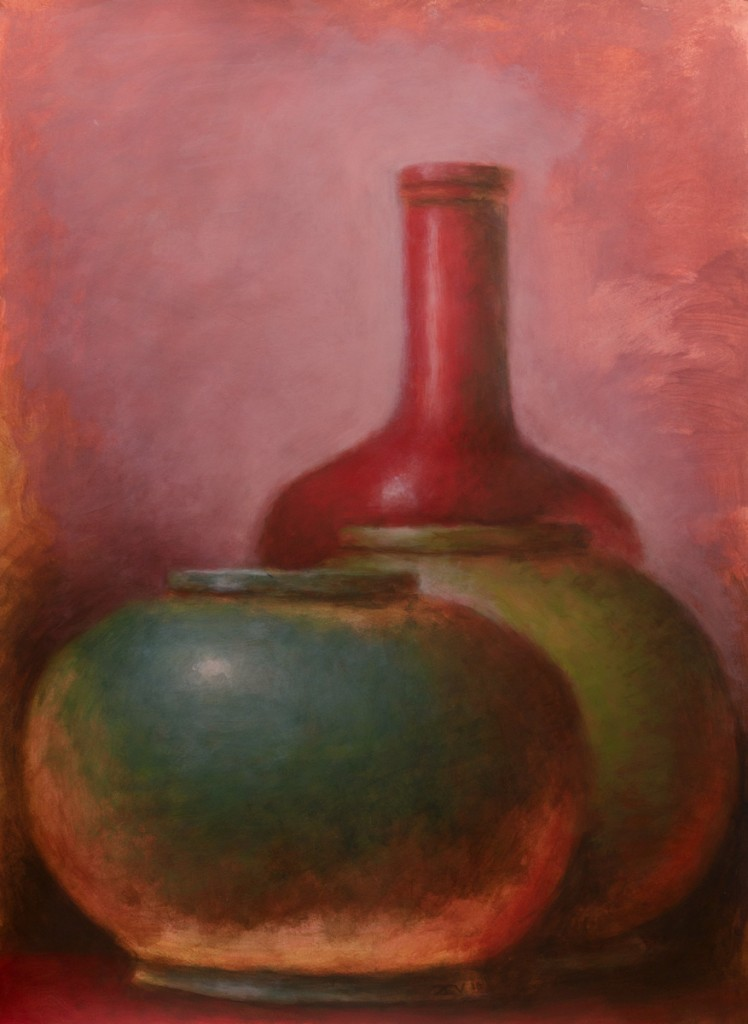 Green and Red Amphorae