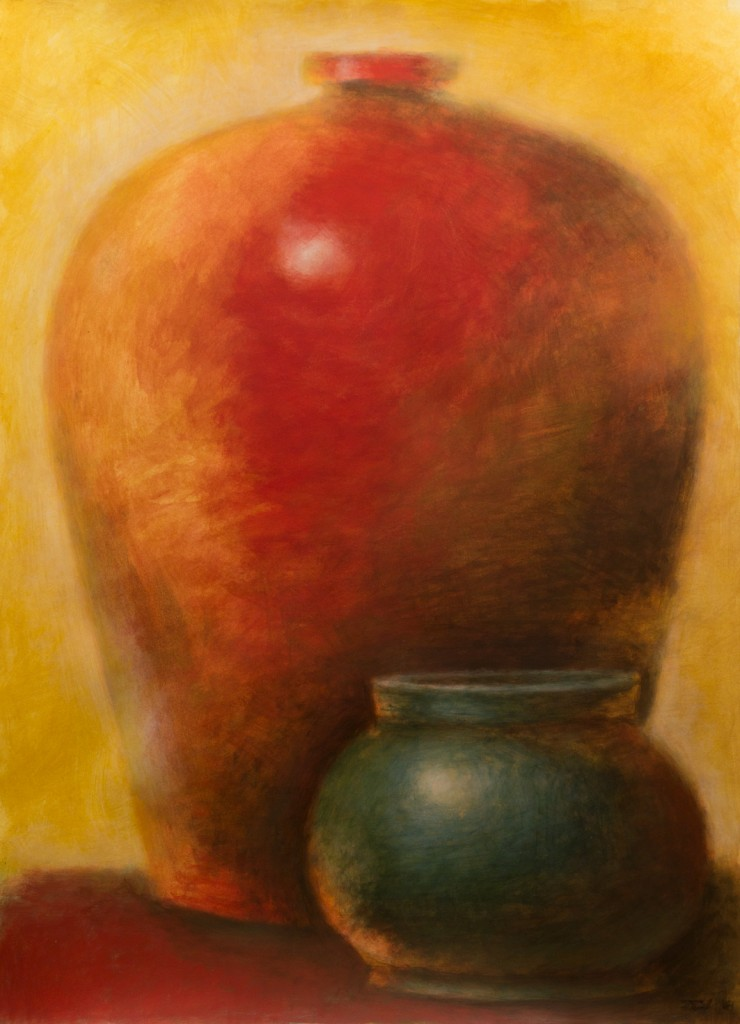 Red Amphora, Green Jar