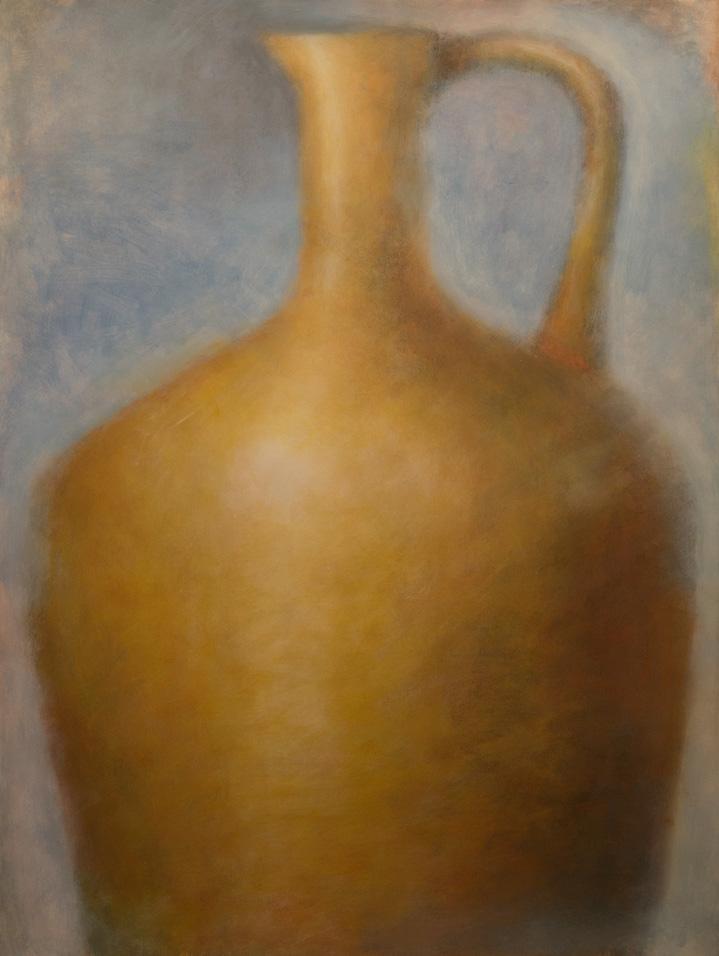 Yellow Amphora on Blue (2017)