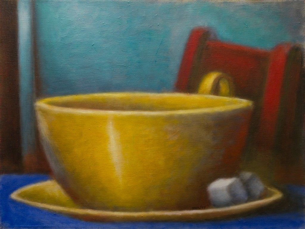 Cup and Red Chair