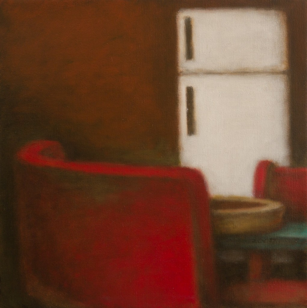 Two Red Chairs and Fridge