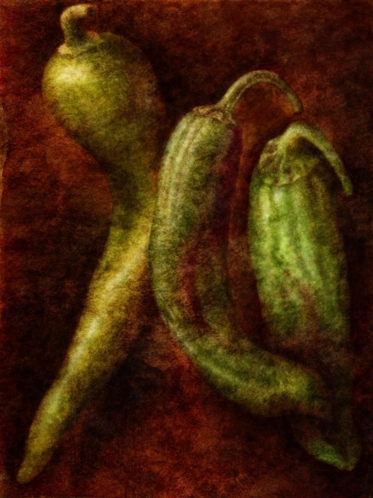 Three Green Chiles